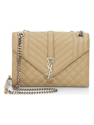 SAINT LAURENT Medium Monogram Tri-Quilted Leather Shoulder Bag