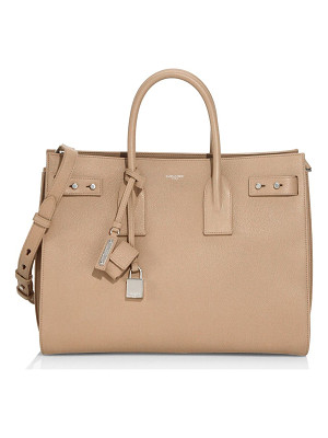 SAINT LAURENT Medium Soft Sac De Jour Leather Tote