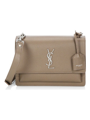SAINT LAURENT Medium Sunset Monogram Leather Satchel