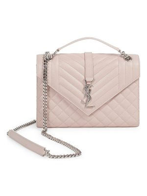 Saint Laurent medium tri-quilt leather envelope bag