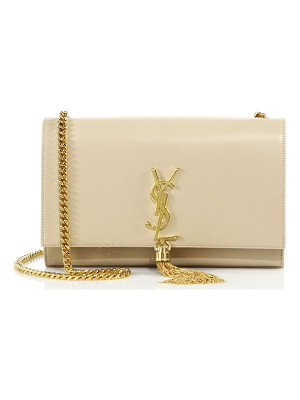 SAINT LAURENT Medium Kate Monogram Leather Tassel Chain Shoulder Bag