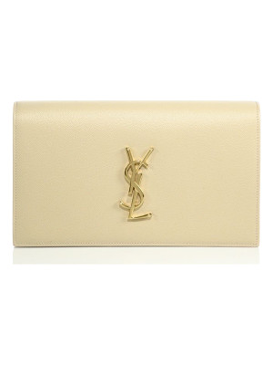 SAINT LAURENT Small Monogram Leather Clutch