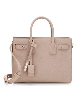 SAINT LAURENT Baby Soft Grained Leather Silver Hardware Sac De Jour