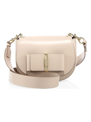 SALVATORE FERRAGAMO Anna Leather Saddle Bag