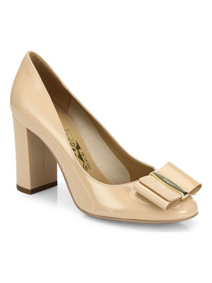 SALVATORE FERRAGAMO Elinda Leather Bow Pumps