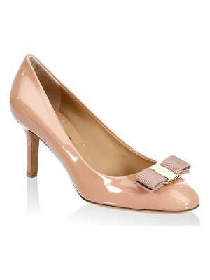 Salvatore Ferragamo erice leather pumps