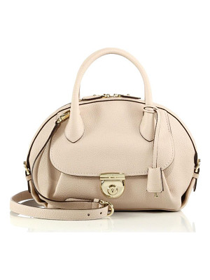 SALVATORE FERRAGAMO Fiamma Medium Pebbled Leather Satchel
