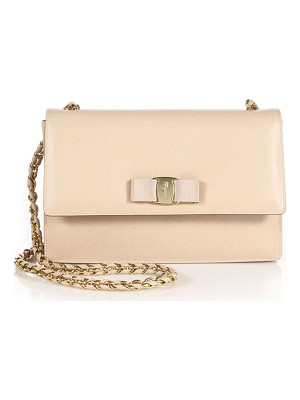 SALVATORE FERRAGAMO Ginny Medium Saffiano Leather Crossbody Bag