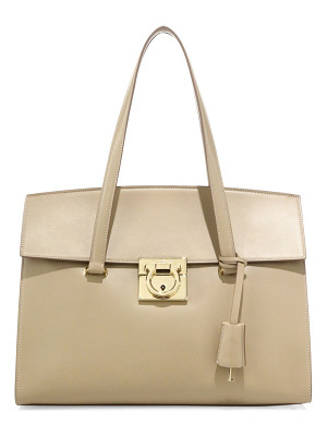 SALVATORE FERRAGAMO Mara Medium Leather Satchel