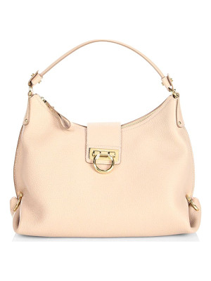 SALVATORE FERRAGAMO Mediterraneo Vitello Small Fanisa Leather Hobo