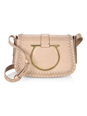 SALVATORE FERRAGAMO Sabine Leather Saddle Bag