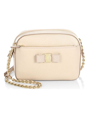 SALVATORE FERRAGAMO Vara Small Lydia Leather Crossbody Bag