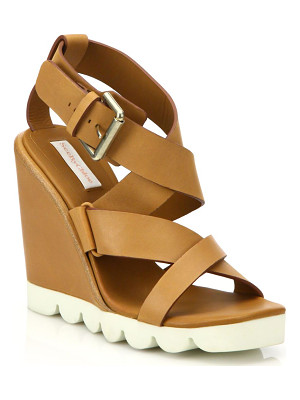 SEE BY CHLO bisco leather wedge sandals
