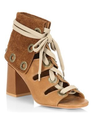 SEE BY CHLOE Selma Leather Lace-Up Booties