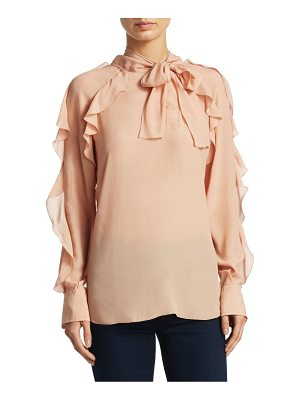 SEE BY CHLOE Tie Neck Ruffle Blouse