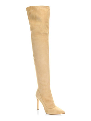 Sergio Rossi matrix suede over-the-knee boots