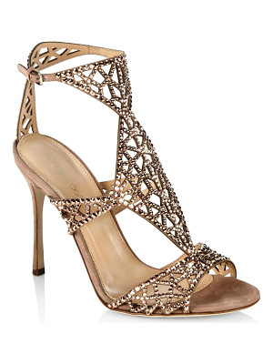 SERGIO ROSSI Tresor Swarovski Crystal And Suede Sandals