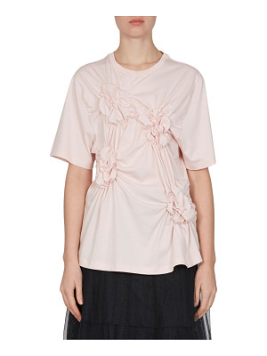 SIMONE ROCHA Floral Smocked Cotton Tee