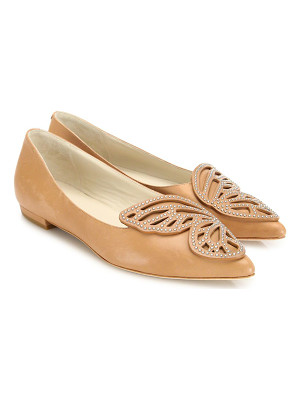 SOPHIA WEBSTER Bibi Studded Leather Butterfly Flats