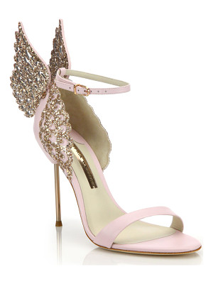 SOPHIA WEBSTER Evangeline Embellished Winged Leather Sandals