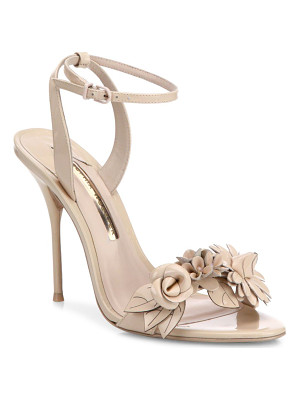 SOPHIA WEBSTER Lilico Flower Embellished Leather Sandals
