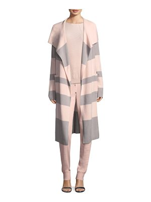 ST. JOHN Stripe Knit Coat