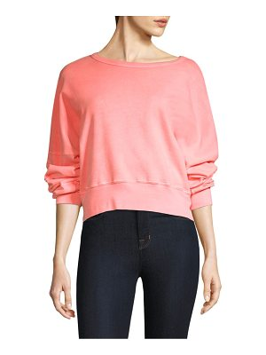 Stateside cropped cotton sweatshirt