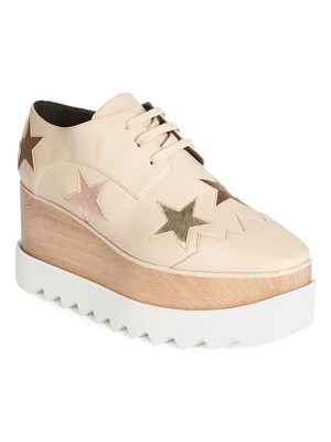 STELLA MCCARTNEY Elyse Leather Creeper Sneakers