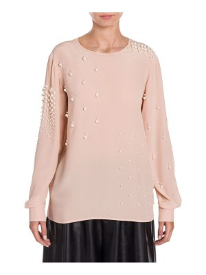 Stella McCartney silk pearl-embellished blouse