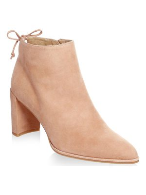 STUART WEITZMAN Lofty Suede Block Heel Booties