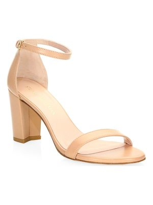 STUART WEITZMAN Nearly Nude Leather Sandals