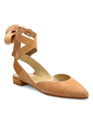 Stuart Weitzman supersonic suede lace-up flats