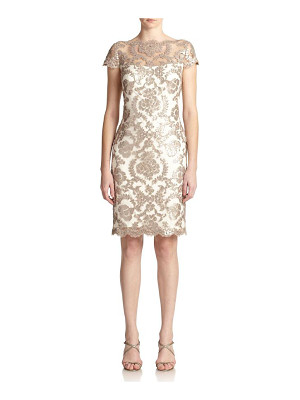 TADASHI SHOJI Sequined Lace Sheath Dress