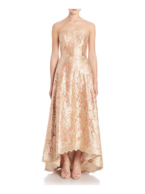 Theia strapless floral lace ball gown
