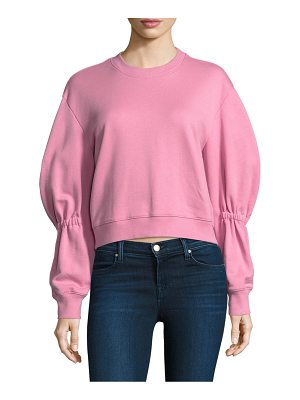 Tibi shirred cotton sweatshirt