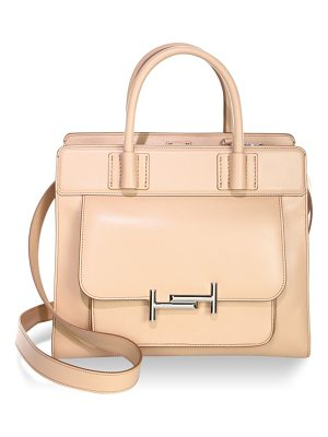 Tod's zippered leather satchel