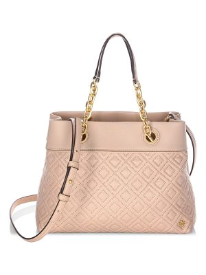 Tory Burch diamond stitched leather tote