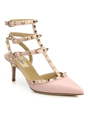 VALENTINO Alce Rockstud Leather Slingbacks