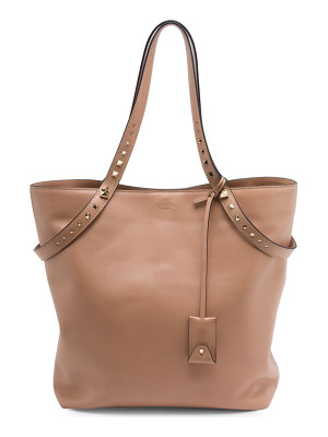 VALENTINO Love Stud Leather Tote