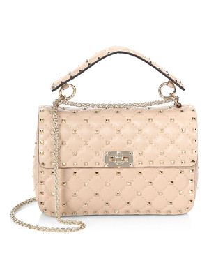 Valentino medium rockstud stitched leather chain shoulder bag