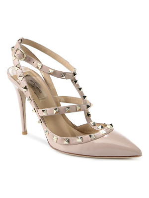 Valentino patent leather rockstud slingbacks