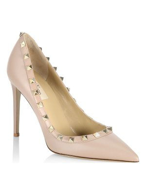 Valentino point toe leather pumps