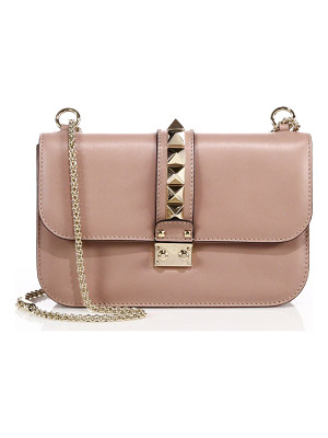 VALENTINO Rocklock Medium Leather Crossbody Bag