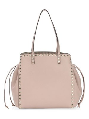 Valentino rockstud cinched leather tote