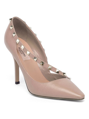 Valentino rockstud d'orsay leather point toe pumps
