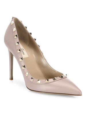 Valentino rockstud leather point toe pumps