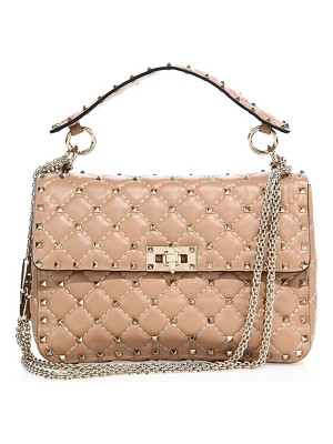 VALENTINO Rockstud Medium Quilted Leather Chain Shoulder Bag