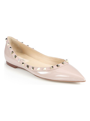 Valentino rockstud patent leather ballet flats