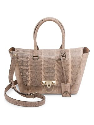 VALENTINO Small Demi Lune Watersnake Satchel