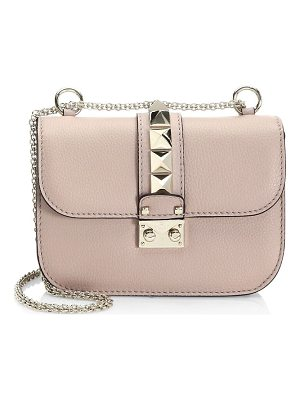 VALENTINO Small Rocklock Leather Crossbody Bag